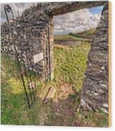 Church Gate Wood Print by Adrian Evans