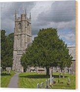 Church In Avebury Uk Wood Print