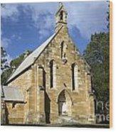 Church In Berrima A Town In Regional New South Wales Australia Wood Print