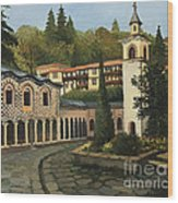 Church In Blagoevgrad Wood Print by Kiril Stanchev