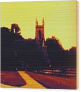 Church In Gold Wood Print