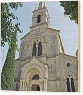 Church In Gordes Wood Print