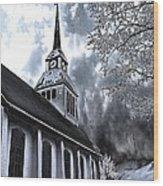 Church In Kuusamo Finland Wood Print