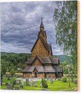 Church In Norway Wood Print