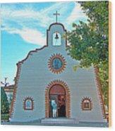 Church In San Carlos-sonora Wood Print