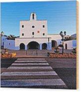Church In Sant Josep Town On Ibiza Island Wood Print