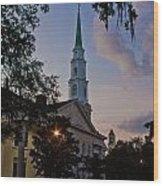 Church In Savannah Wood Print