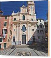 church in Sori. Italy Wood Print