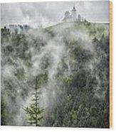 Church In The Clouds Wood Print