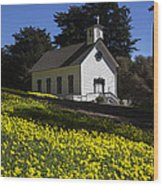 Church In The Clover Wood Print