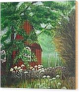 Church In The Glen Wood Print