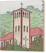 Church In The Jungle Wood Print