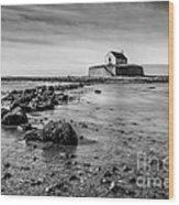 Church In The Sea Wood Print