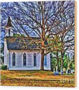 Church In The Wildwood - Paint Wood Print
