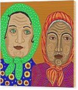 Church Ladies Wood Print