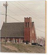Church Love Wood Print