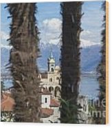 Church Madonna Del Sasso Wood Print