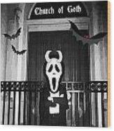Church Of Goth Wood Print
