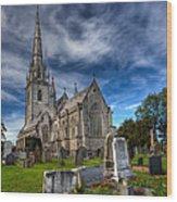 Church Of Marble Wood Print