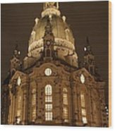 Church Of Our Lady At Night  -  Dresden - Germany Wood Print