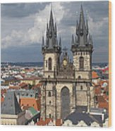 Church Of Our Lady Before Tyn - Prague Wood Print