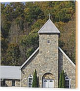 Church Of Rock Wood Print