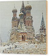 Church Of St. Basil In Moscow Wood Print