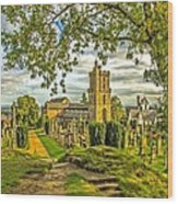Church Of The Holy Rude Cemetery Stirling Wood Print