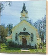 Church Of The Meadow Wood Print