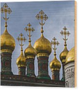 Church Of The Nativity Of Moscow Kremlin Wood Print