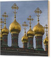 Church Of The Nativity Of Moscow Kremlin - Square Wood Print
