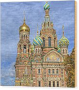 Church Of The Saviour On Spilled Blood. St. Petersburg. Russia Wood Print
