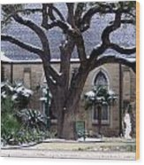 Church On Rosedale With A Dusting Of Snow Wood Print