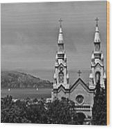 Church On The Bay Wood Print