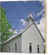 Church On The Hill Wood Print