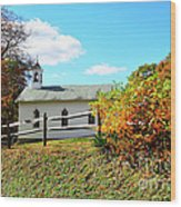 Church On The Mountain Wood Print by Thomas R Fletcher