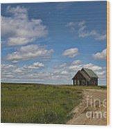 Church On The Plains Wood Print