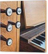 Church Organ Keyboard Wood Print