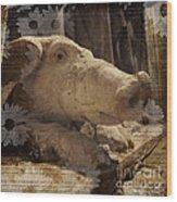 Church Pig Wood Print