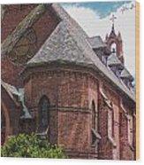 Church Red Door Wood Print