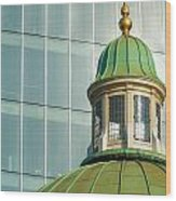 Church Roof With Office Block Wood Print