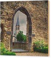 Church Ruins In Boppard Germany Wood Print