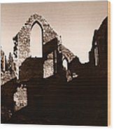Church Ruins Wood Print
