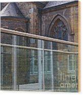 Church Seen Through A Transperant Screen  Wood Print