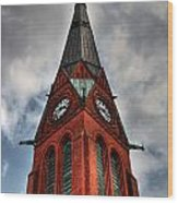 Church Spire Hdr Wood Print