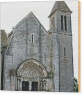 Church St Thibault- Burgundy Wood Print