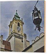 Church Steeple - Bratislava Slovakia Wood Print