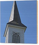Church Steeple In Buckley Washington Wood Print