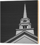Church Steeple Stowe Vermont Wood Print