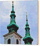 Church Steeples - Bratislava Wood Print